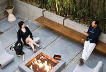 Fire pits outdoor garden