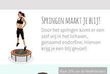 Infographics / Flexbounce Fitness Trampoline met springsteun Shop online www.flexbounce.com #Fitness #Trampoline #Flexbounce