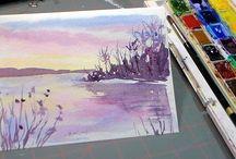 akvarel, vodovky (watercolor)