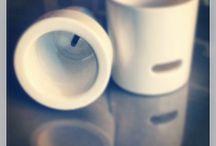 Porta spazzolino / Portaspazzolino in ceramica scomponibile realizzato da Giuseppe Del Ben #delbengiuseppedesigner