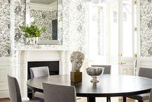 Interior in black minimalistic look