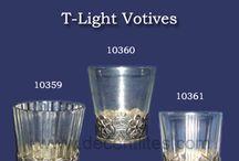 GLASS T-LIGHT VOTIVES