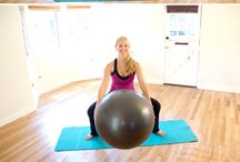 3rd Trimester exercise with exercise ball