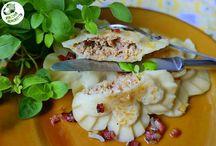 Pierogi z chabaninką /dumplings with meat