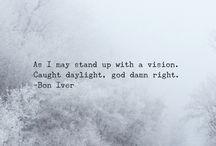 Lyrics /quotes I love