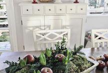 Blomsterdekorasjon jul