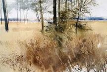 Watercolor - Landscape / Nature brings contrast in seasons, light  and inspirations.