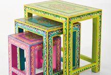 Spændende malede møbler