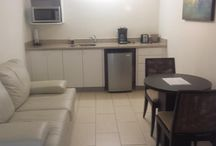One Bedroom / This fully-furnished apartment icludes a sitting area with a sofa bed, a microwave, a refrigerator and a dining area.  Apartment Size: 51 m² Bed Size(s): 1 king, 1 sofa bed.