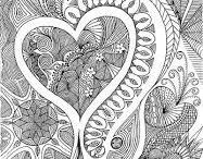 Antistress coloring - Hearts