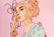 woman illustrate