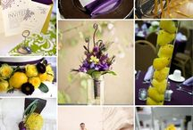 Violet and lime wedding