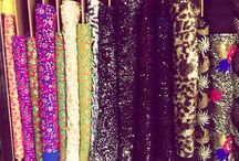 sequins and fabrics
