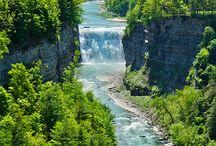 Nature / waterfalls, flowers, scenery,