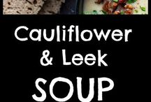 Keto leek cauliflower soup