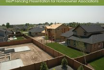 HOAs - Trex / Trex Fencing is popular for Homeowner Associations for perimeter and internal fencing.