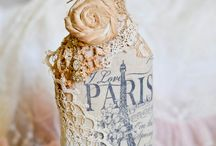 Vintage altered bottles