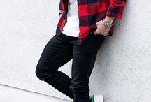 Red Checked Shirt Style
