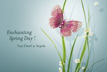Spring / Van Cleef & Arpels celebrates Spring, and presents a selection of Flying Beauties and delicate flowers creations to pay homage to the blossoming season's renewal.