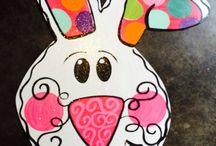 Easter door hanger