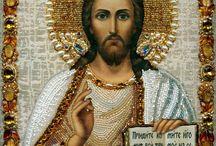 Православные иконы / Уникальные иконы, вышитые бисером!