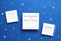 Shades of Blue - Bar Mitzvah / Bar Mitzvah Invitations and Party Ideas in Shades of Blue