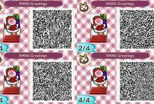 ACNL - Qr codes Noël