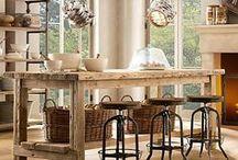 farmhouse  rustic table