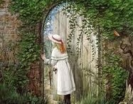 # The Secret Garden  / My favourite book when I was a child was 'The Secret Garden' and I have been obsessed with secret gardens and the imagery of them ever since....one day I hope to have the opportunity to create one..