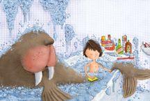 Domestic life / Home life illustrations