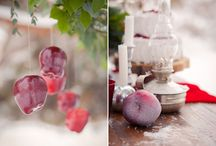 The great winter wedding decoration in marsala color