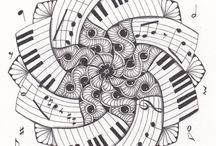 ♥ Art Thérapie Doodeling and Zentangle ♥ / by Kathleen Paquin