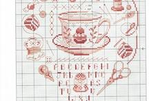 Cross stitch / Teapots