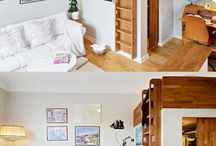 lofts, stairs and storage
