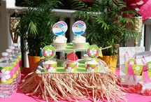 Birthday Party {Luau Party Ideas} / Grass skirts to hula dancing this board has simple fun food, craft, favor and styling ideas for your Luau Party, Hawaiian Party, and Pool Party.   For more ideas http://blog.thecelebrationshoppe.com / by Kim {The Celebration Shoppe}