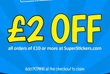 SuperStickers Special Offers / Stock up on Rewards and Resources from SuperStickers.com and save with these exclusive Pinterest offers