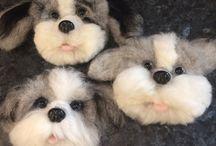 Kiskutyàk gyapjúból