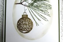 """Stamp:Ornamental Pine / These handmade cards feature Stampin' Up's """"Ornamental Pine"""" stamp set."""