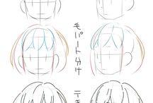 Animu drawing references