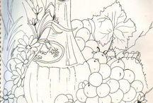 dlaždice ovoce
