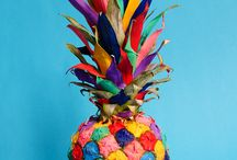 moodboard ananas etalage