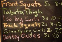 Chalkboard Workouts / Everyday challenges fit the fitness freaks