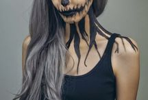 Photoshoot - Creepy (white wig + schmink)