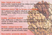 Různé ingredience a jejich účinky