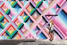 fun walls and prints [mini shoot] / Location: wynwood, and palm beach graffiti walls, and colors  Mood: incorporating fun patterns, colors, textures that allow you to interact your senses with the images and clothing choices.