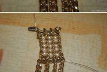 браслет из бисера и цепочки