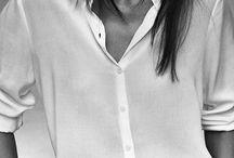 ★ Crisp white shirt