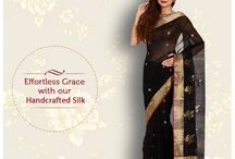 Handcrafted Chanderi Silk / Authentic handcrafted Chanderi Silk collection crafted to perfection