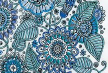 Coloring and Embroidery / Add a touch of embroidery or needlework to your coloring pages for extra dimension and fun