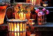 Autumn/Thanksgiving Lighting Displays and Decor Ideas / Create a soft glowing ambiance with your LED lights as the daylight wanes.